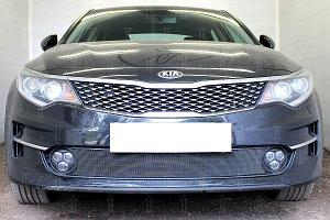 Защита радиатора KIA Optima 2015- black низ