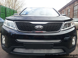 Защита радиатора KIA Sorento 2012- chrome середина