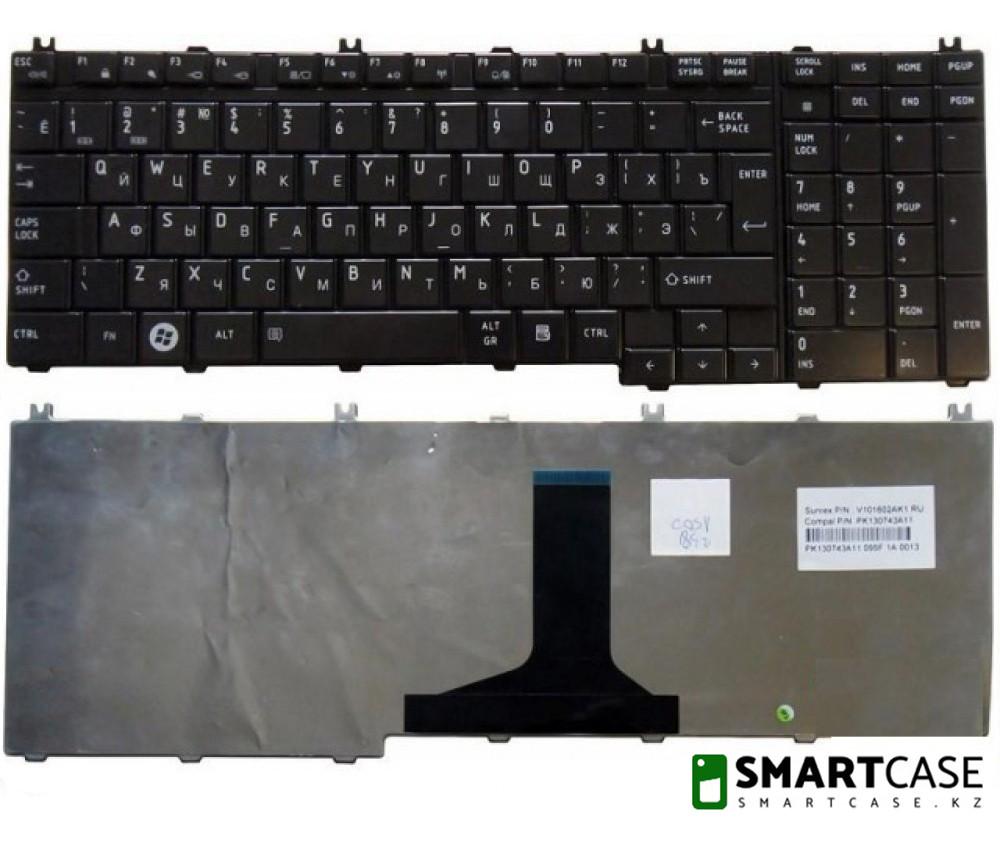 Клавиатура для ноутбука Toshiba Satellite A500 (черная, RU)