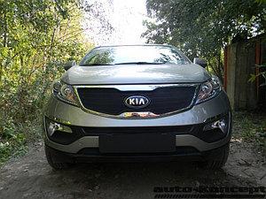 Защита радиатора KIA Sportage 2010-2013 black верх
