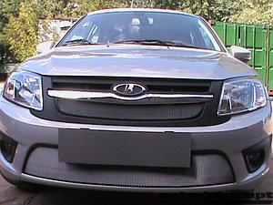 Защита радиатора Lada Granta 2014- лифтбек, седан (2 части) chrome