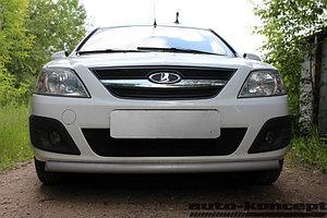 Защита радиатора Lada Largus 2012- black верх