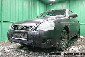 Защита радиатора Lada Priora (рестайлинг) 2014- black