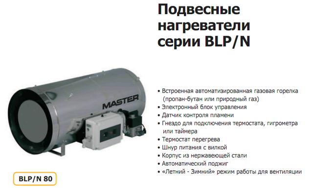 Master BLP/N 80 - Подвесной нагреватель
