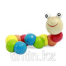 """Деревянная игрушка """"Веселая Гусеница"""", фото 3"""