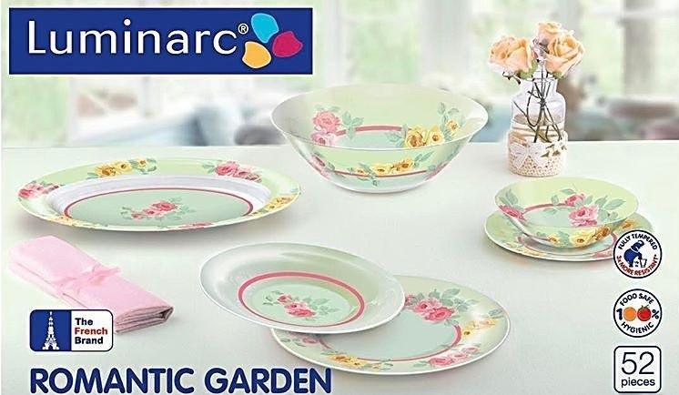 Столовый сервиз Luminarc Romantic Garden 52 предмета на 6 персон