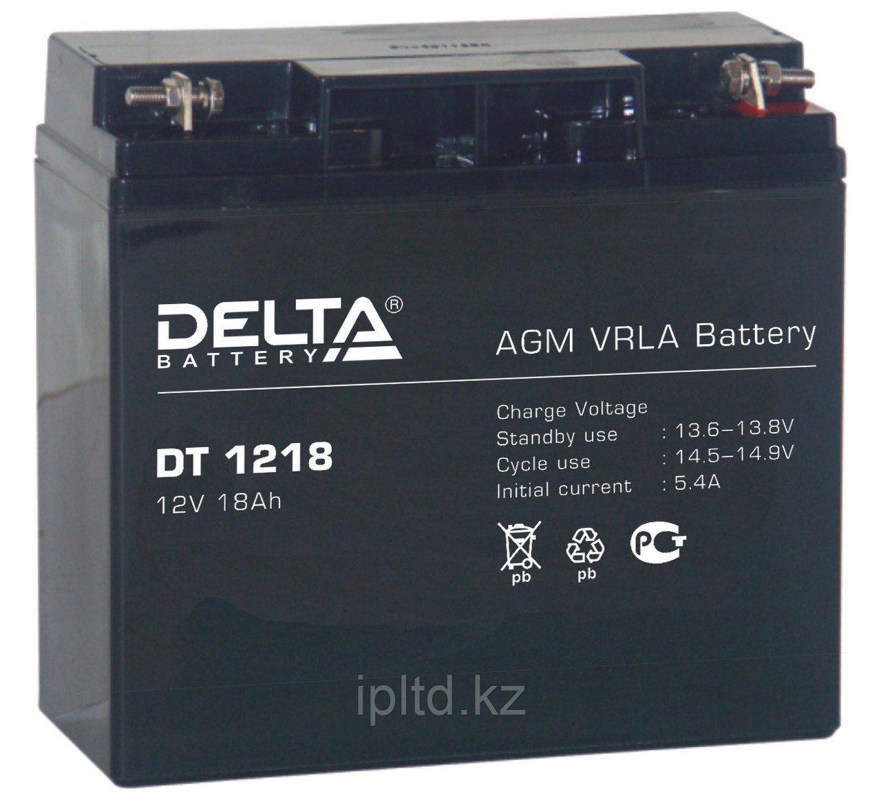 Delta аккумуляторная батарея DT 1218