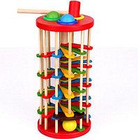 Деревянная игрушка Стучалка молоточек, шарики