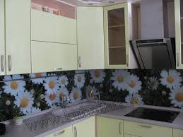 Кухонные фартуки из стекла - фото 3
