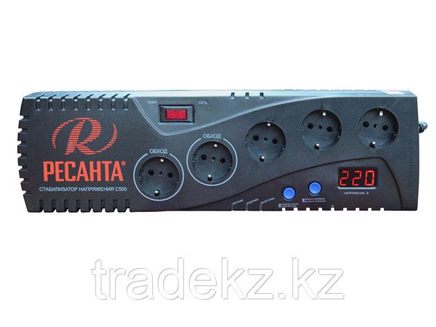 Стабилизатор напряжения бытовой электронного типа Ресанта С500, фото 2