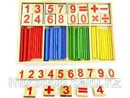 Счётные палочки с цифрами
