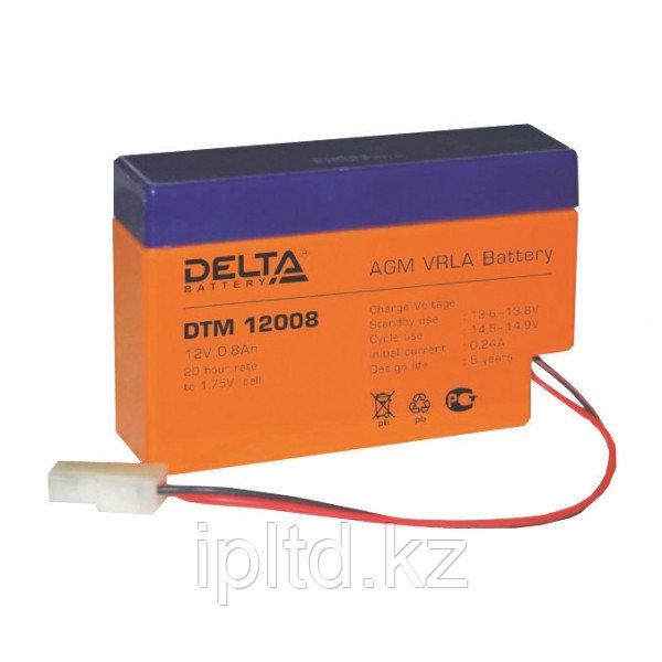 Delta аккумуляторная батарея DTM 12008 (6 лет)