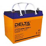 Delta аккумуляторная батарея DTM 1233 L (12 лет), фото 2