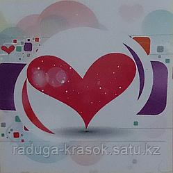 """Картины стразами в 3Д """"Сердце"""" 50х50 см"""