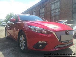 Защита радиатора Mazda 3 2013- chrome низ