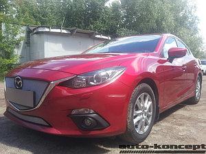 Защита радиатора Mazda 3 2013- chrome верх