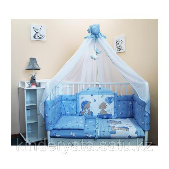 Комплект в кроватку БАЛУ  Загадка 7 предметов, голубой