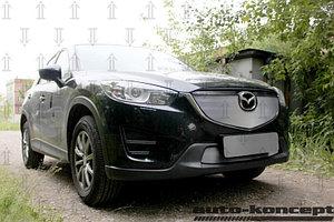 Защита радиатора Mazda CX5 2012-2014 chrome верх