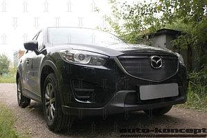 Защита радиатора Mazda CX5 2012-2014 black верх