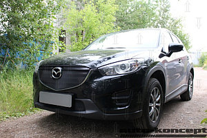 Защита радиатора Mazda CX5 2012-2017 black низ