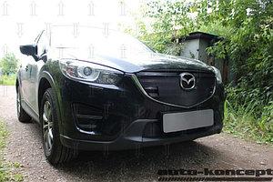 Защита радиатора Mazda CX5 2015-2017 chrome с парктроником верх