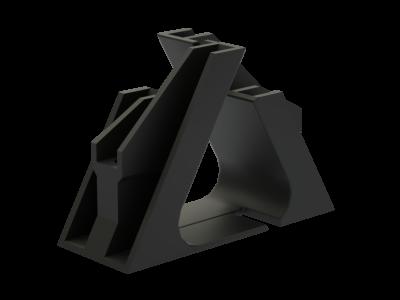 Кабельный держатель для крепления в треугольник, д. 30-40 мм, тип 1, фото 2