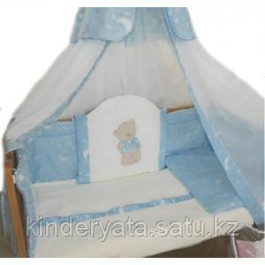 Комплект в кровать БАЛУ Моя радость, голубой