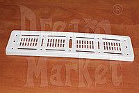 Рамка для номера, пластик, белая, монолитная, фото 1
