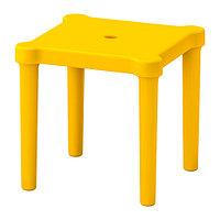 Табурет детский УТТЕР д/дома/улицы желтый ИКЕА, IKEA, фото 1