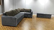 Угловой диван + большой пуф