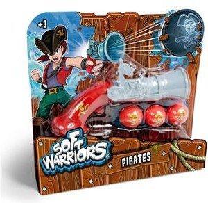 SoftWarrior ПИРАТЫ - Пистолет грозного пирата (в наборе: пистолет, 3 мягких пули большого диа