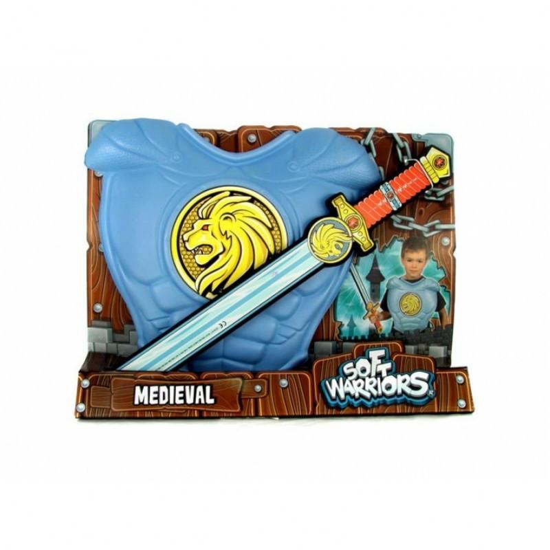 SoftWarrior РЫЦАРИ - Набор мощного рыцаря (в наборе: меч и нагрудные латы рыцаря из мягкой E