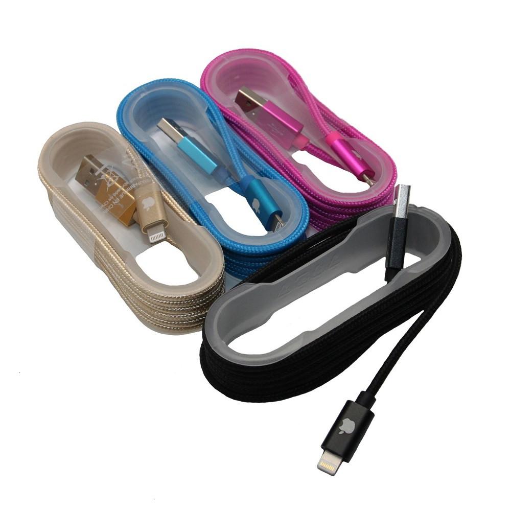 Кабель Матерчатый Lightning USB