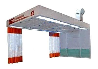 Guangli GL422 - пост подготовки к окраске с подогревом и диагональным забором воздуха