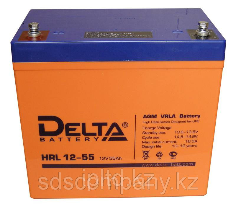 Delta аккумуляторная батарея HRL12-55