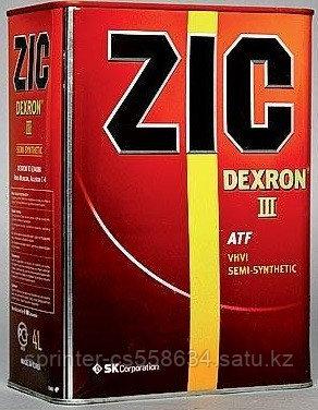 Трансмиссионное масло ZIC DEXRON III 4 литра