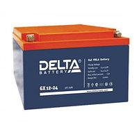 Гелевая аккумуляторная батарея Delta 24 А/ч GX12-24