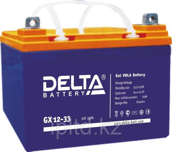 Гелевая аккумуляторная батарея Delta 33 А/ч GX12-33