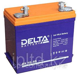 Гелевая аккумуляторная батарея Delta 60 А/ч GX12-60
