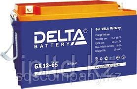 Гелевая аккумуляторная батарея Delta 65 А/ч GX12-65
