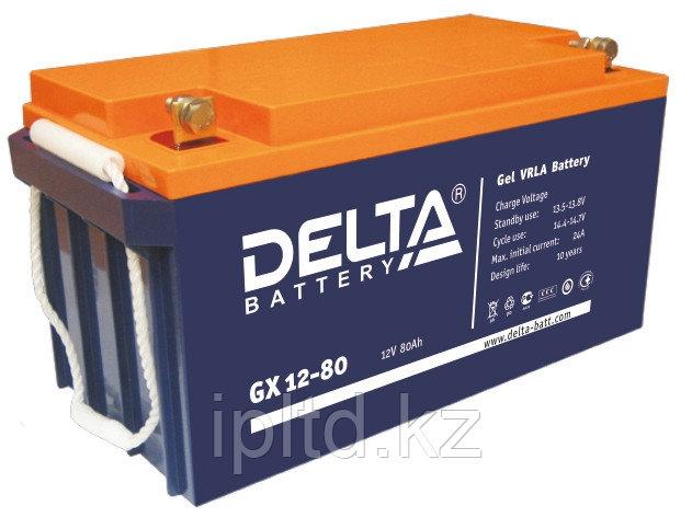 Гелевая аккумуляторная батарея Delta 80 А/ч GX12-80