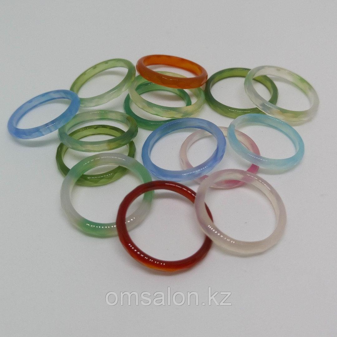 Кольцо из граненого агата