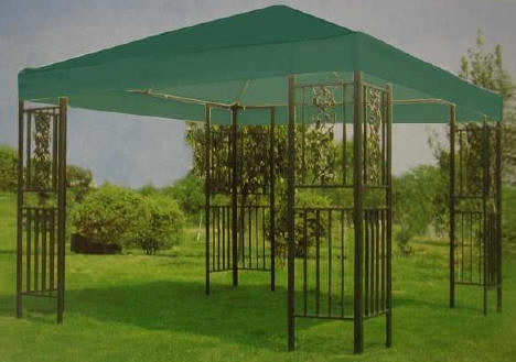 Садовый павильон со шторами ( 3x3м), зеленый
