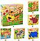 Кубики детские. Дерево 6в1 картинки, фото 2