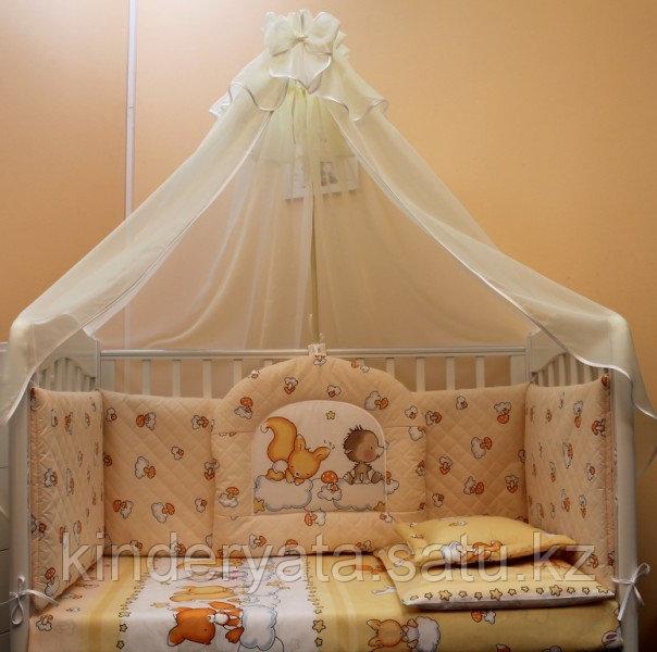 Комплект в кроватку Балу Веселые зверушки (8 предметов), желтый