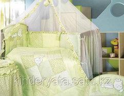 Комплект для кроватки Золотой Гусь Кошки-Мышки, зеленый