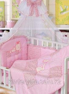 Комплект для кроватки Золотой Гусь Кошки-Мышки, розовый
