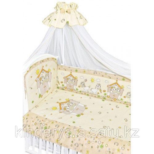 Комплект для кроватки Золотой Гусь Лошадки,бежевый