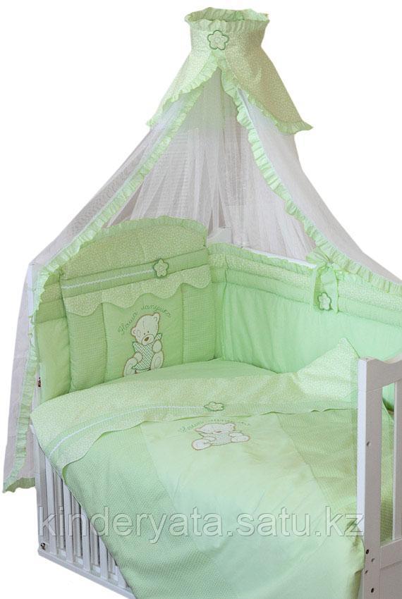 Комплект для кроватки Золотой Гусь Сабина, зеленый