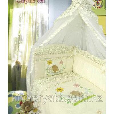 Комплект для кроватки Золотой Гусь Сладкий сон, бежевый